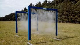 Kurtyna wodna wysokociśnieniowa - bramka 250x250cm - WYPOŻYCZENIE
